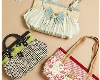 McCall's M6090 Fashion Accessories Artful Offering Bags Sewing Pattern