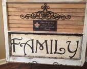 Rustic Salvaged Window to Create Family Signs