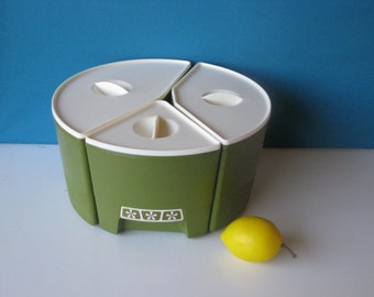 Round Canister Set - 3 pieces - Mod - Hard Plastic - Vintage 1960's