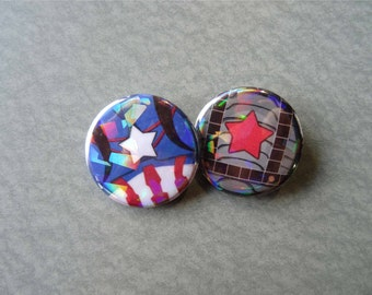 Holographic Captain America and Bucky Button Set