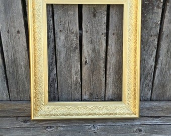 Metallic Gold Ornate 11x14 Picture Frame, Vintage Chic,Glass and Backings,Wedding Frame,Photo Prop #Metallic (Los Angeles)