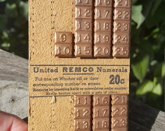 Vintage Numbered Window Markers RETRO Industrial