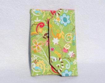 Floral crayon Wallet - coloring activity tote