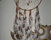 Mother Earth Large dreamcatcher , native woven with genuine gemstones and charms,Native American inspired,  Earth tones,by dreamcatcherman