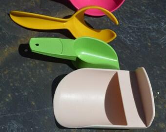 Vintage Tupperware Kitchen Gadgets Scoops/Egg Separator/Funnel 1227A, 878, 292, 1334, 779