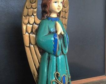 Vintage Paper Mache Angel - Spriritual  Meditative - Christmas Angel - Madonna  - Christmas Gift
