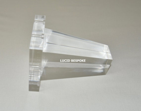 6 Hollywood Regency Lucite Leg Acrylic Leg Crystal