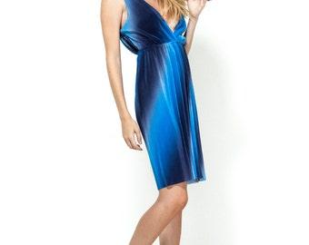 Blue maini dress / Open back dress / Evening dress / mini dress / blue dress