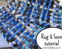 DIY crafts, DIY room decor, Fabric crafts,  Weaving loom, Weaving book, Rug loom, Weaving pattern, Rag rug weaving loom,PDF tutorial,Rag Rug
