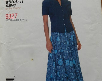 Vintage 1996 Mccalls 9327 Easy Pattern    Size 6 -8 -10- 12