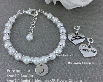 Junior Bridesmaid Bracelet, Flower Girl Bracelet, Pearl Bracelet, Girl Jrewelry, Flower Girl Gift, Junior Bridesmaid Gift, Wedding, Jewerly