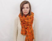 CLEARANCE Plaid Flannel Blanket Scarf Oversized Scarf Zara Scarf