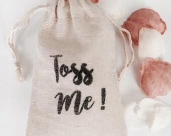 Toss Me Bag Muslin Wedding Bags Set of 10 (3x5 shown)