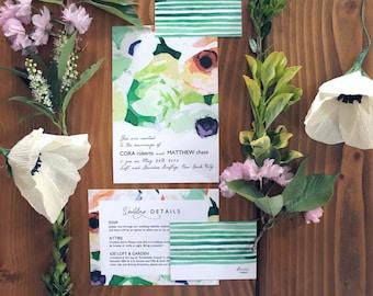 Modern Urban Botanical Invitation Suite