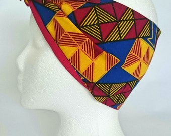 Off Her Dolly Rocker, Colourful, Wax Print Headscarf FOR The Bold & Bright