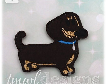 "Pet Wiener Dog Feltie Digital Design File - 1.75"""