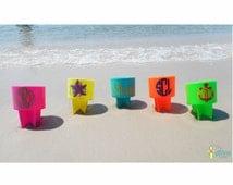 Monogrammed Beach Spiker, Personalized Beach Spike, Sand Spike, Beach Cup Holder, Drink Holder, Sand Cup