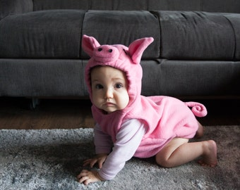 Pig Costume, Toddlers Halloween Costume, Party Costume, For Boys or Girls, Toddler Costume, Pink Costume