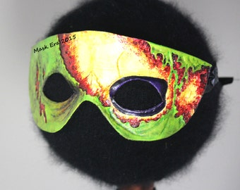Zombie Jamboree: hand made leather mask