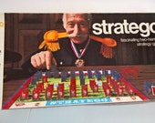 Vintage Stratego Board Game --- Family Game Night -- Strategy Battle -- 1970's Childhood Nostalgia --- Nostalgic Toy -- Good Times Memories
