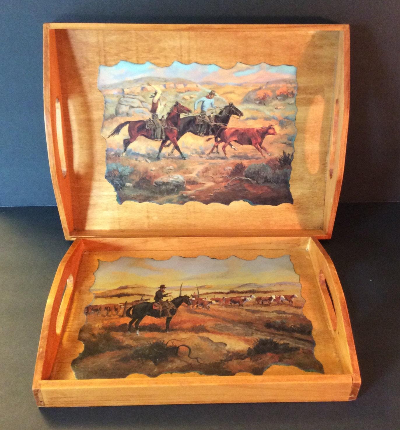 Western Decor On Sale: SALE Western Serving Trays, Western Decor, Cowboy Decor