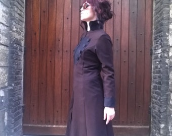 "Steampunk Coat ""Elisabetha"" Brown chocolate"