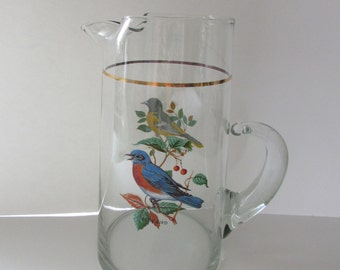 Clear glass pitcher etsy for Baltimore glassware decorators