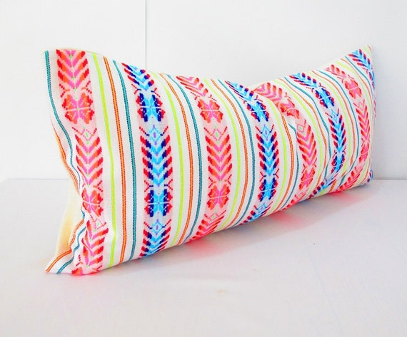 Items similar to mexican embroidered pillow tribal