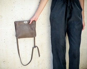 Leather Cross Body Bag, Small Leather Bag, Crossbody Purse, Small Handbag, Tapue Brown