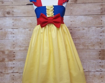 Princess Snow White Inspired Girls Toddler Disney Everyday Princess Dress, Sizes 12 months to 12 Girls