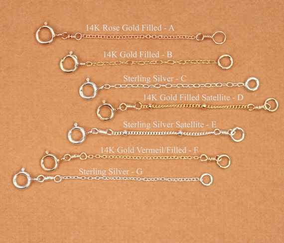 Chain Extender - chain extension - longer chain - chain add on - gold chain extender - silver chain extender - rose gold chain extender