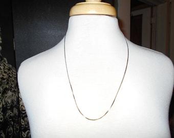 "1970s Chain a simple silver tone metal chain 22"" long Estate Sale"