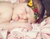 fall colors newborn floral crown