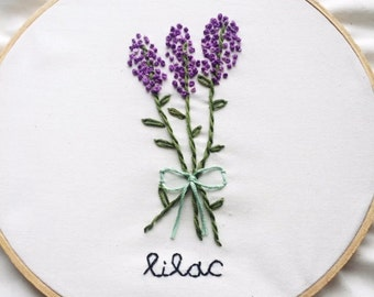 Lilacs Embroidery Hoop Art
