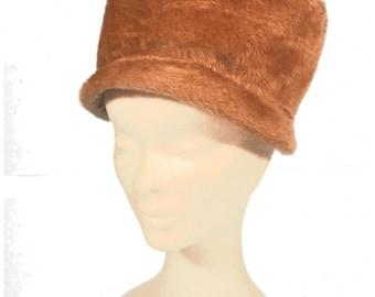 Fawn Faux Fur Vintage Hat