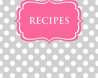 Recipe Binder Printables Sheet Polka Dots Card Recipes To Try Template PDF Editable