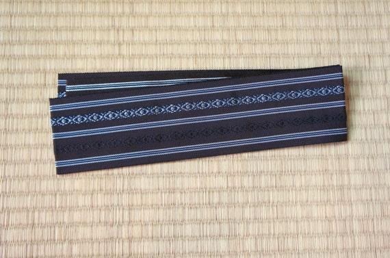Brown mens obi belt, Japanese obi belt for men, brown silk obi, vintage obi belt minimalist, kimono belt, otoko, mens kimono, summer obi