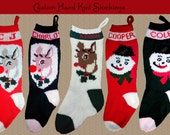 YOUR NAME on a Hand Knit 2018 Christmas Stocking