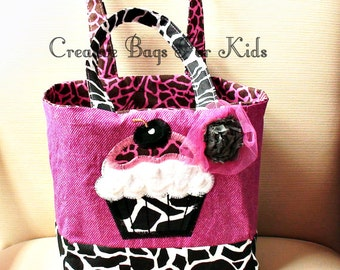 Cupcake Tote Bag/ Cupcake Lunch Bag/ Cupcake Purse