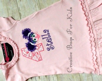 Abby Cadabby Dress/ Personalized Abby Cadabby Dress / Abby Cadabby Outfit/ Sesame Street Dress/ Sesame street Birthday Dress