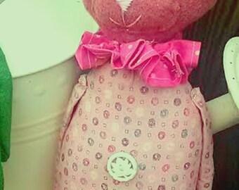 Folk Art Rabbit -Primitive Bunny Rabbit Doll