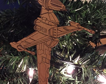 Star Wars B-Wing Fighter Wooden Ornament