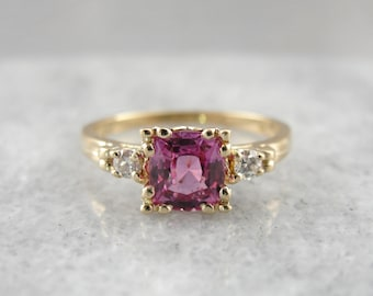 Pink Sapphire and Diamond Engagement Ring W4457A-D