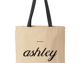 Custom Name Tote Bag | Custom Tote Bags | Custom Bride Totes | Customized Tote Bags | Custom Wedding Tote Bags | Monogrammed Tote Bags