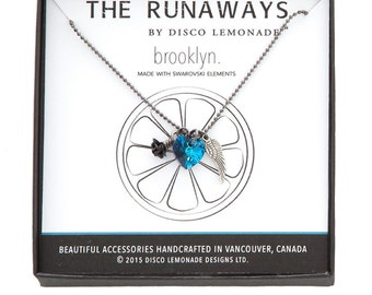 The Runaways | Brooklyn, Swarovski Necklace, Angel Wing Necklace, Heart Necklace, Heart Pendant, Swarovski Jewellery, Charm Necklace, Wings,