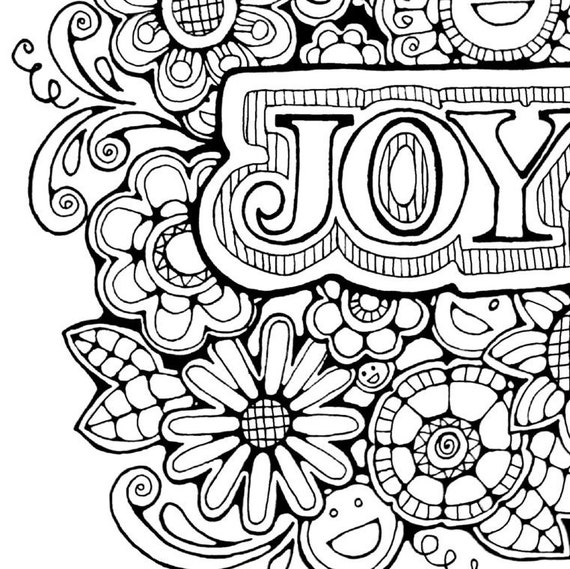 Joy Image Advent Coloring Page Coloring Pages