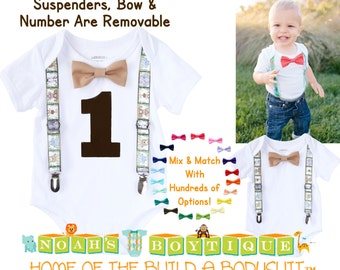 Zoo Birthday Shirt Boy - Zoo Animal First Birthday Party Baby Boy - Lions - Tigers - Elephants - Monkeys - Zoo Theme Party - Jungle - Safari