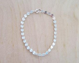 Sterling silver disc Bracelet