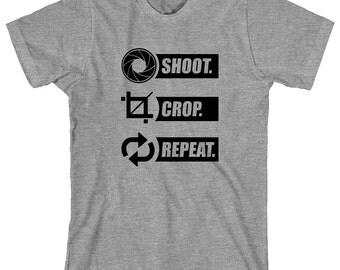 Shoot. Crop. Repeat. Shirt, camera, lens, aperture, photographer - ID: 1158