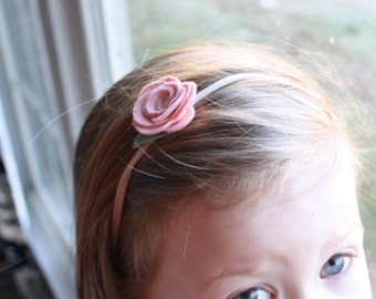 Small Felt Rose